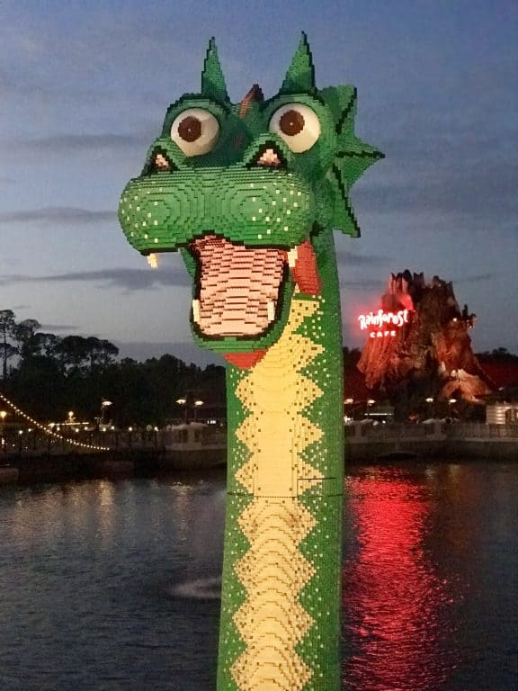 Lego creature at Disney Springs