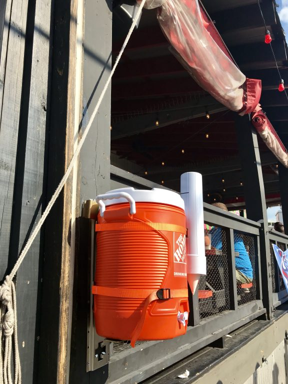 orange Home Depot water cooler