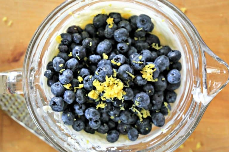Blueberries and lemon zest