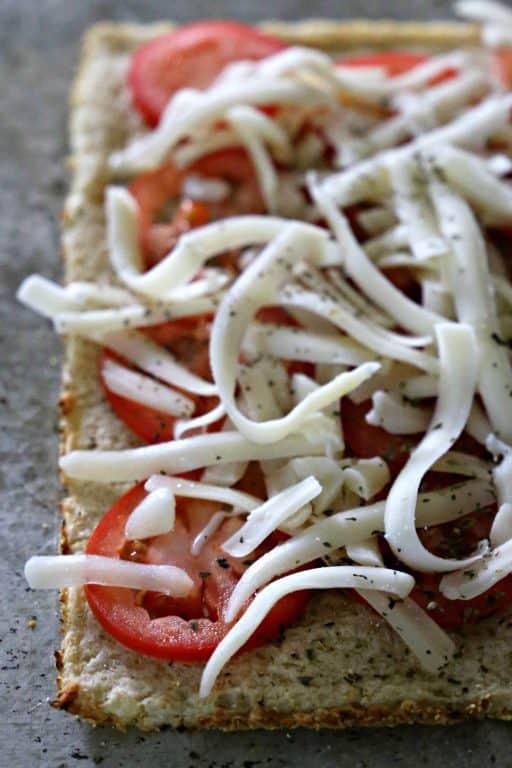 seasonings on a pizza