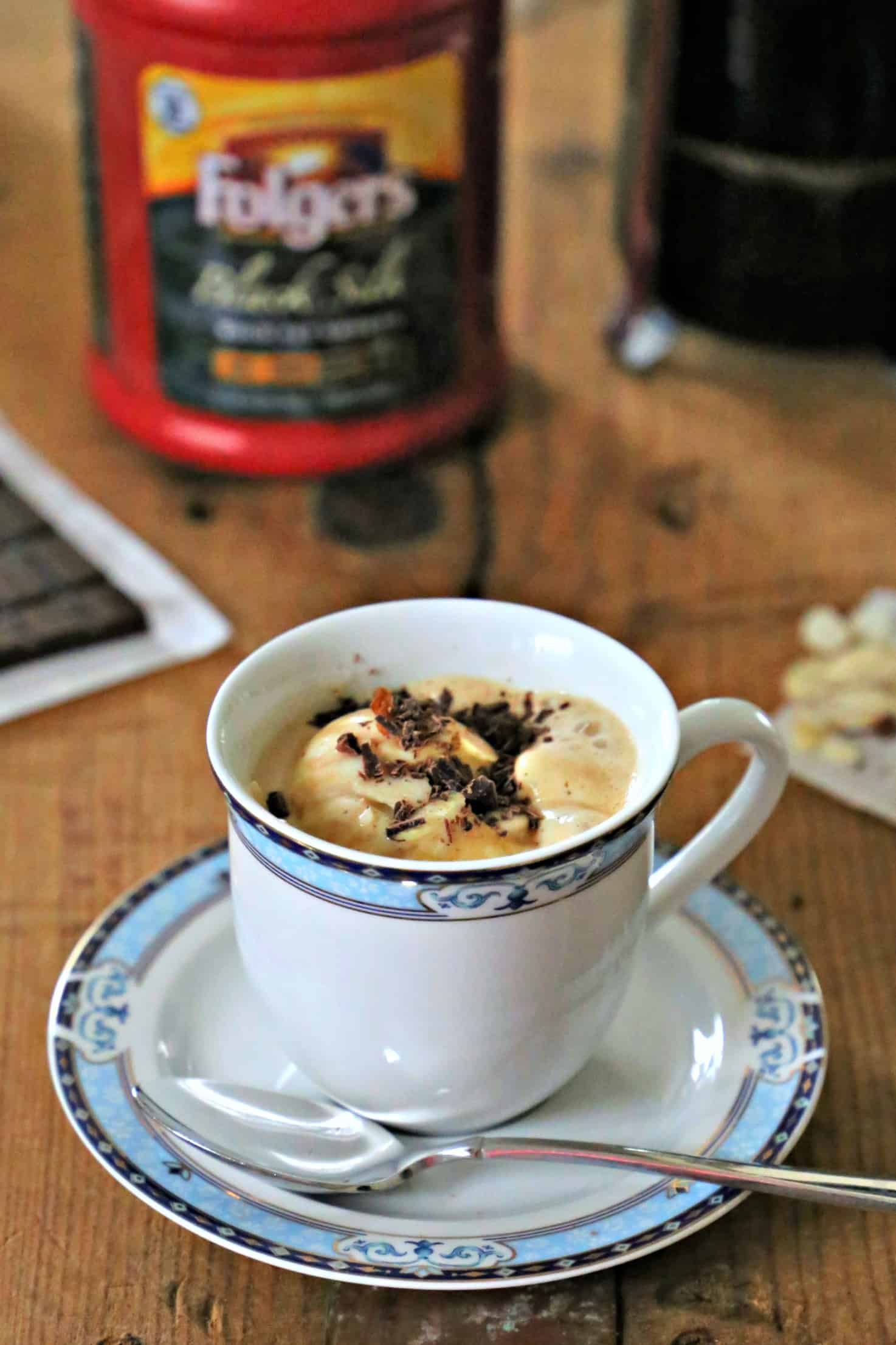 cup of affogato - coffee and ice cream