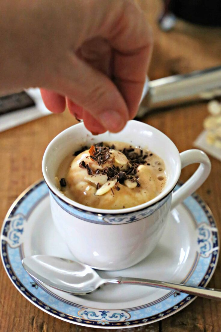 You don't have to be fluent in Italian to make this Easy Keto Affogato. All you need is Folgers Black Silk coffee and some low carb ice cream.