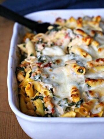 spinach and pasta casserole