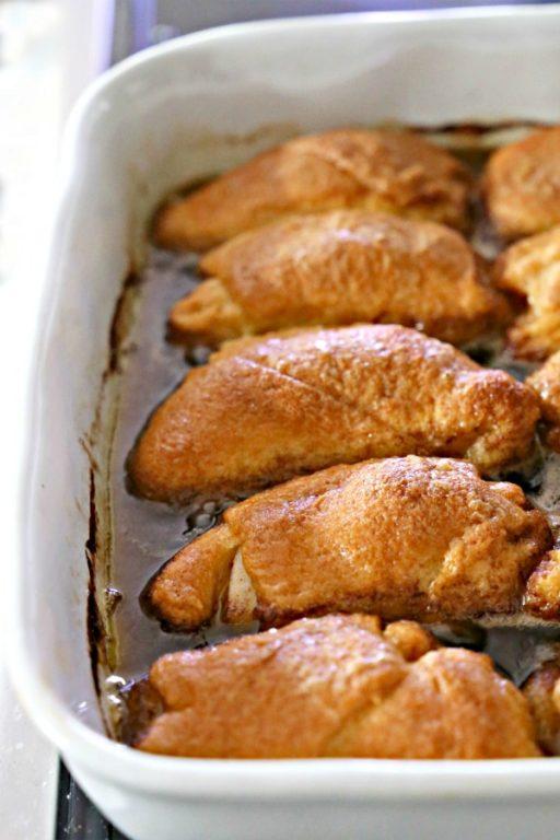 apple dumplings in a pan