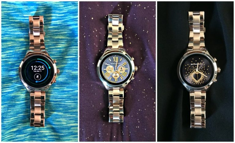 MK Runway Access watch with different faces