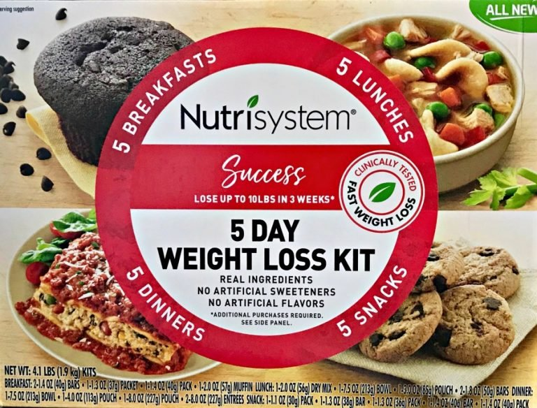 Nutrisystem 5 Day Weight Loss Kit box