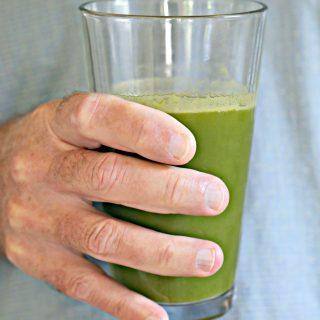 jar of green ginger juice