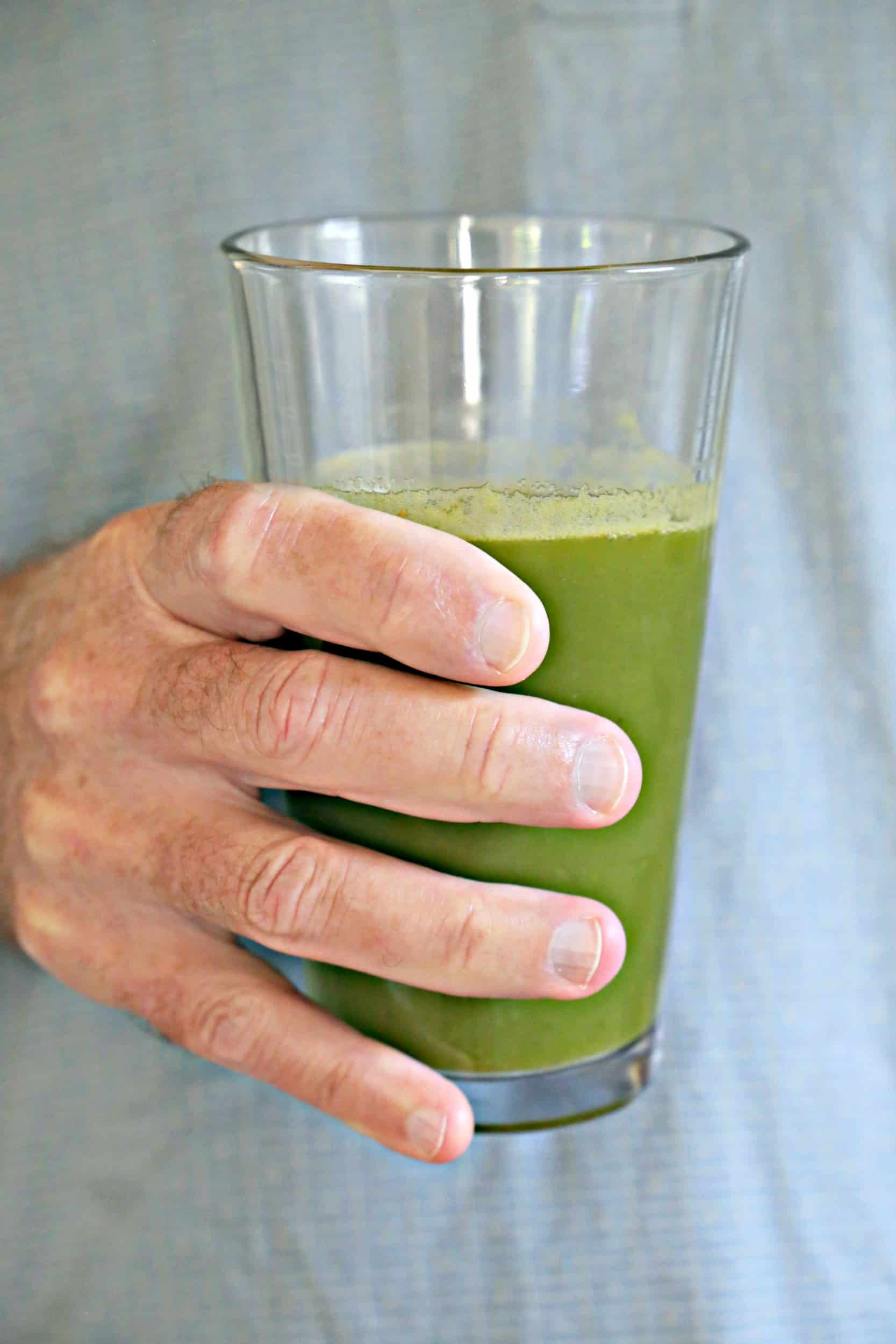 glass of ginger green juice