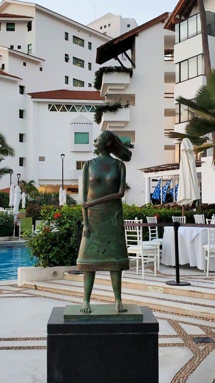 Statue by the pool