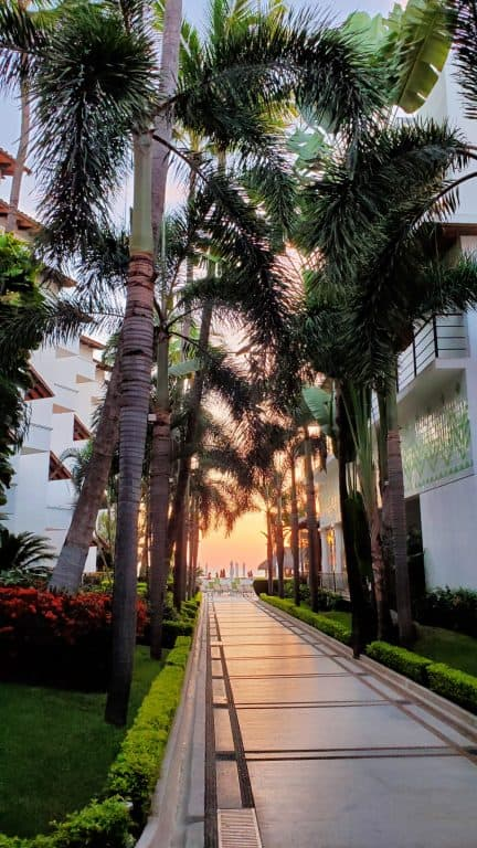 Sunset at the Buenaventura Grand Resort in Puerto Vallarta