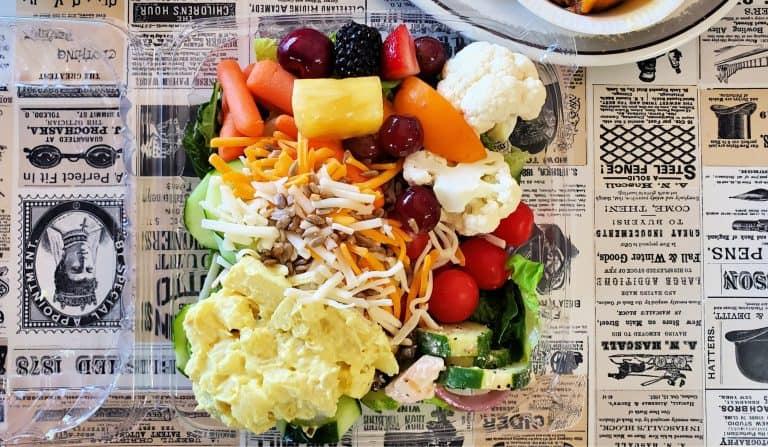 salad bar at Filet and Vine