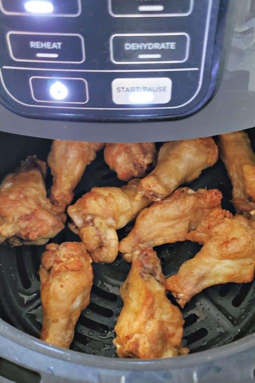 wings in an air fryer