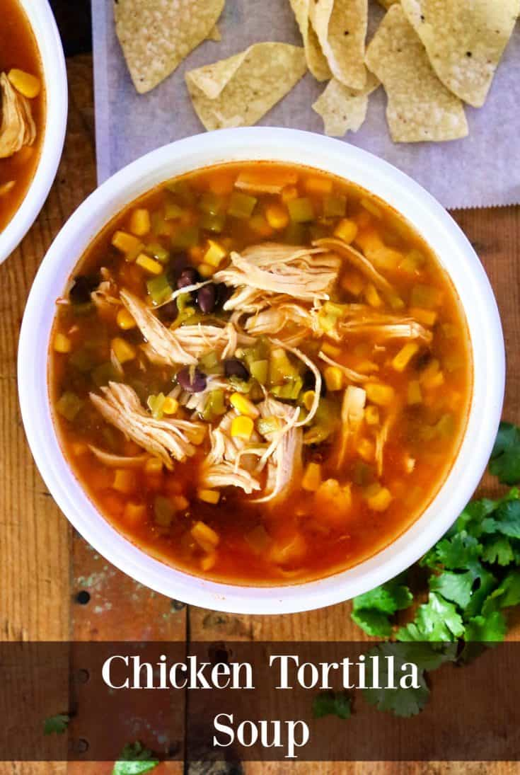 This delicious Chicken Tortilla Soup recipe is so simple to make and is ready in about half an hour. It's made in an Instant Pot, is affordable, and no special culinary skills are needed.