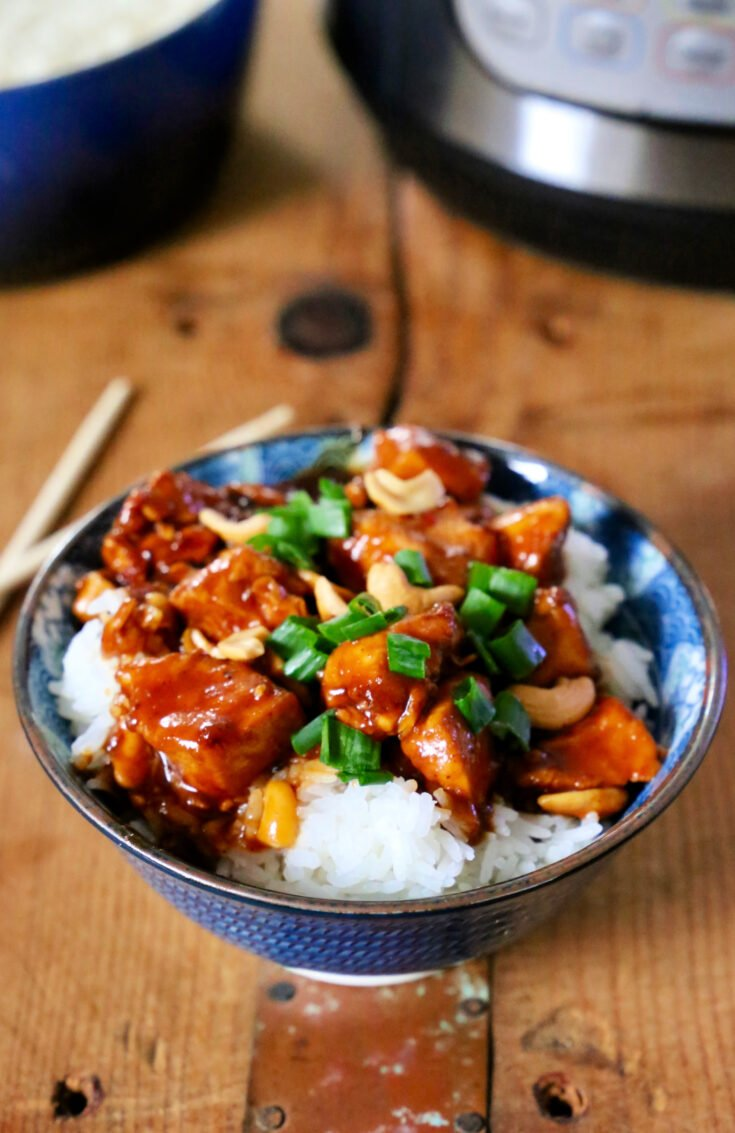 This Pressure Cooker Cashew Chicken recipe allows you to enjoy the restaurant favorite dish at home without additives, preservatives, gluten, or dairy.