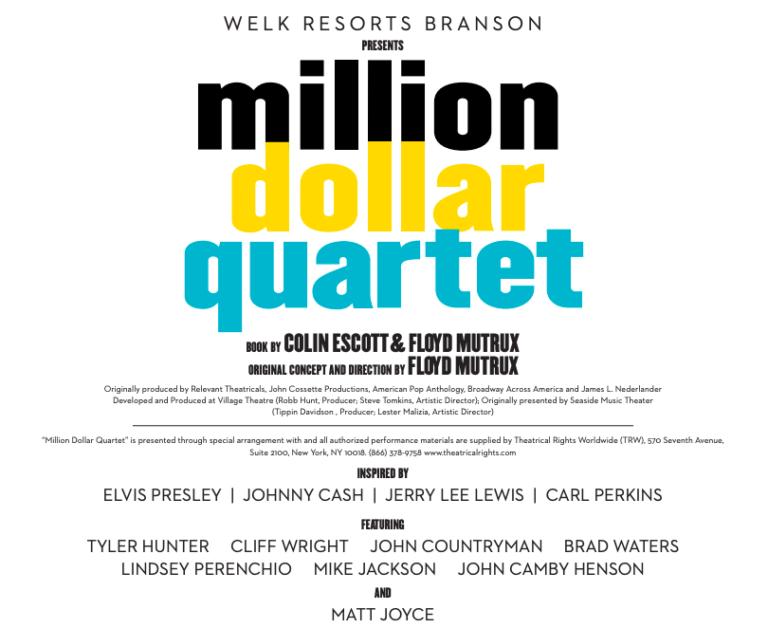 million dollar quartet sign