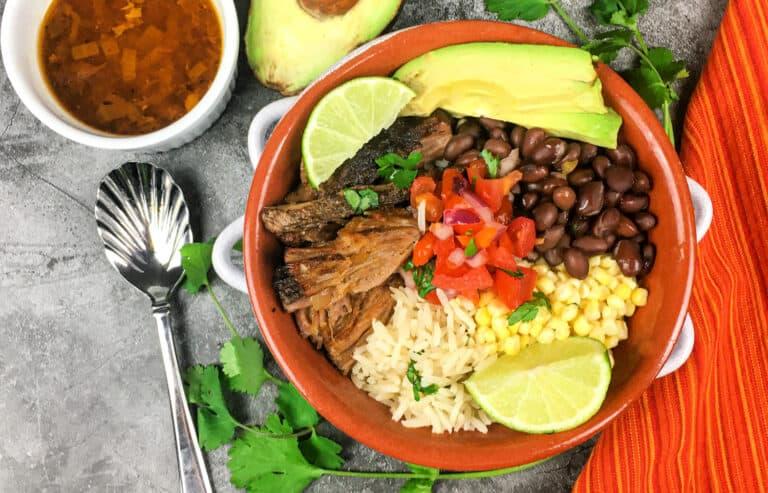 pork carnitas bowl