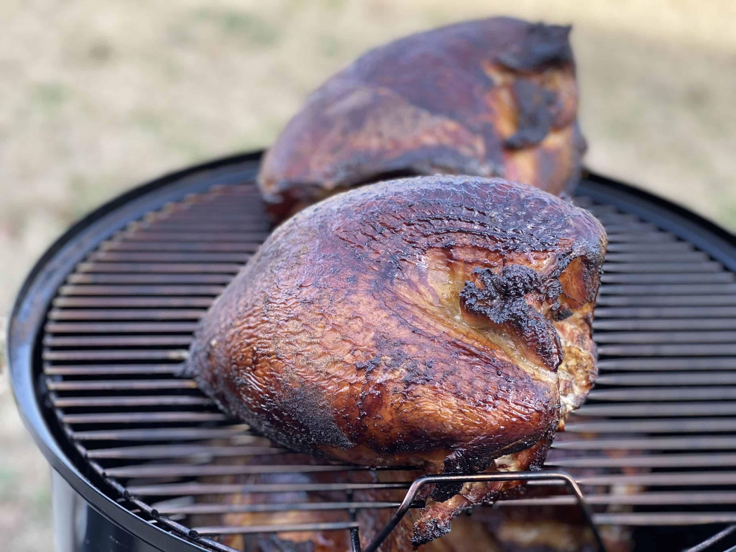 smoking turkeys on a smoker