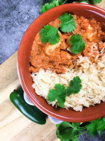 chicken tiki masala with rice