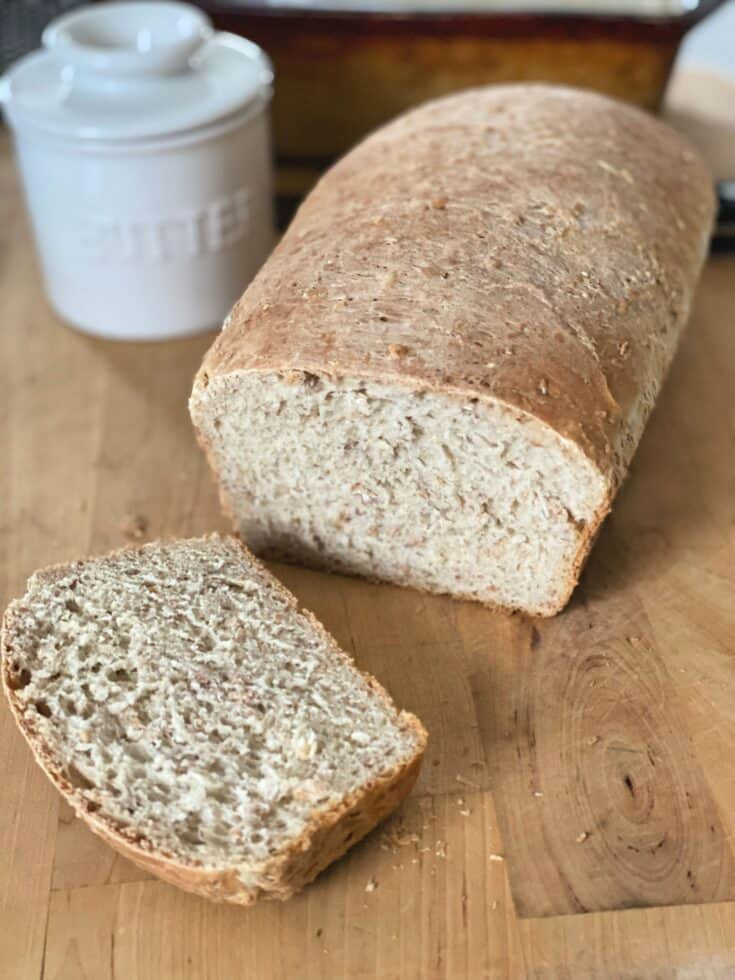 You can make this delicious, wholesome multigrain bread at home. It's made with six simple ingredients (not including water) and it makes a terrific base for sandwiches.