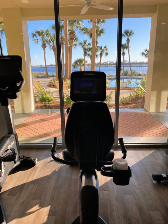 fitness center at resort