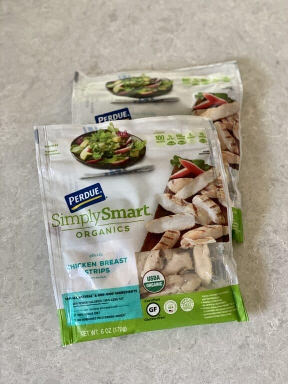 Perdue Simply Organics chicken breast strips