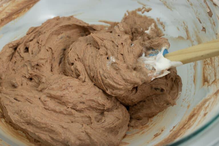 folding cream and chocolate