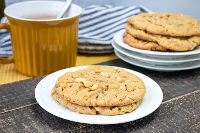 plate with peanut butter cookies