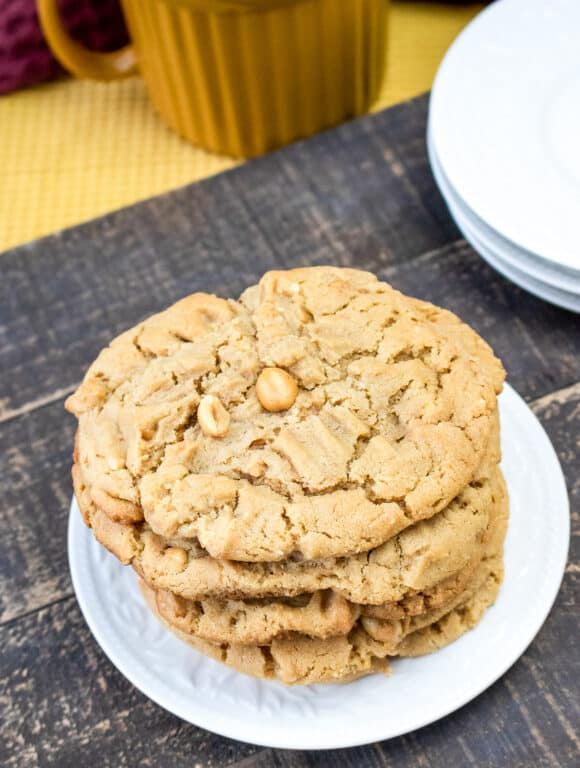 plate of peanut butter cookies
