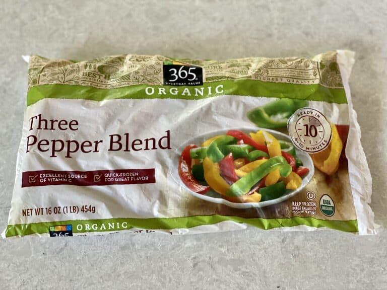 bag of frozen three pepper blend