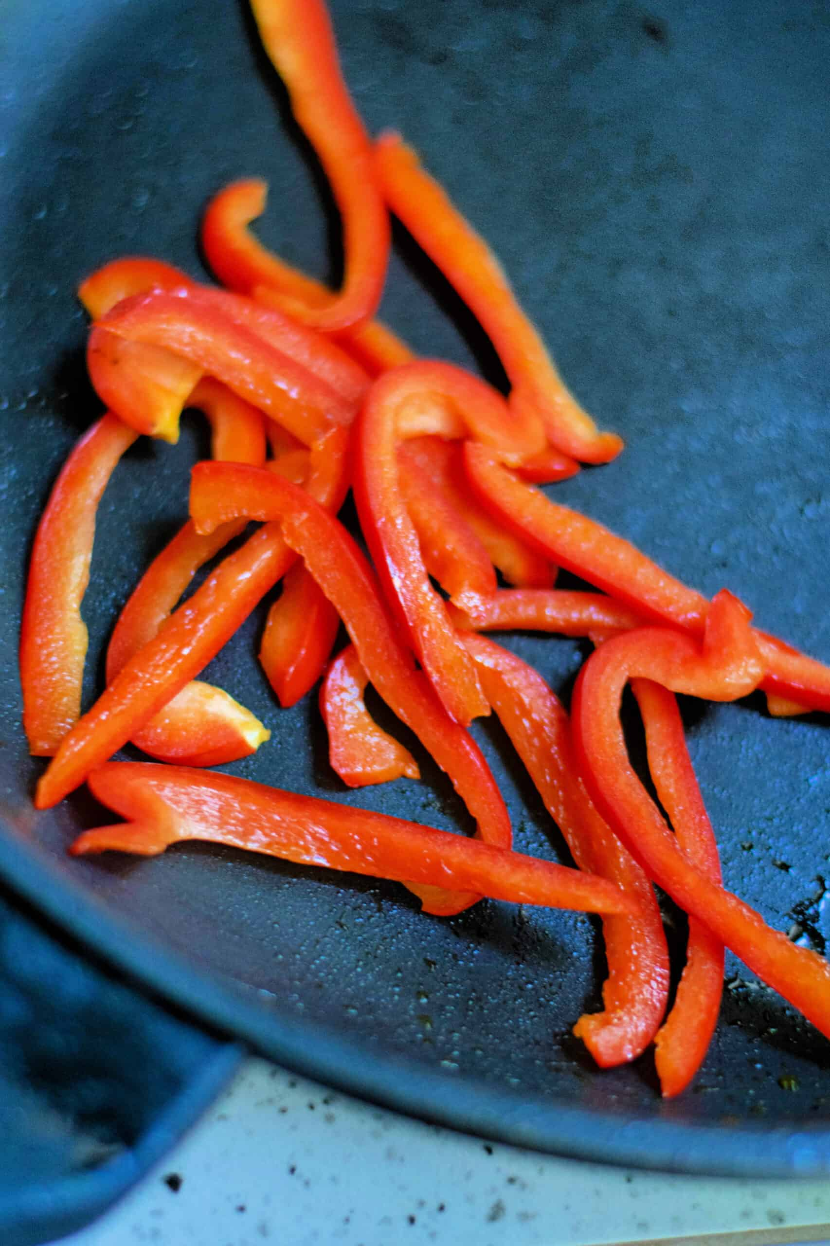 red bell pepper strips