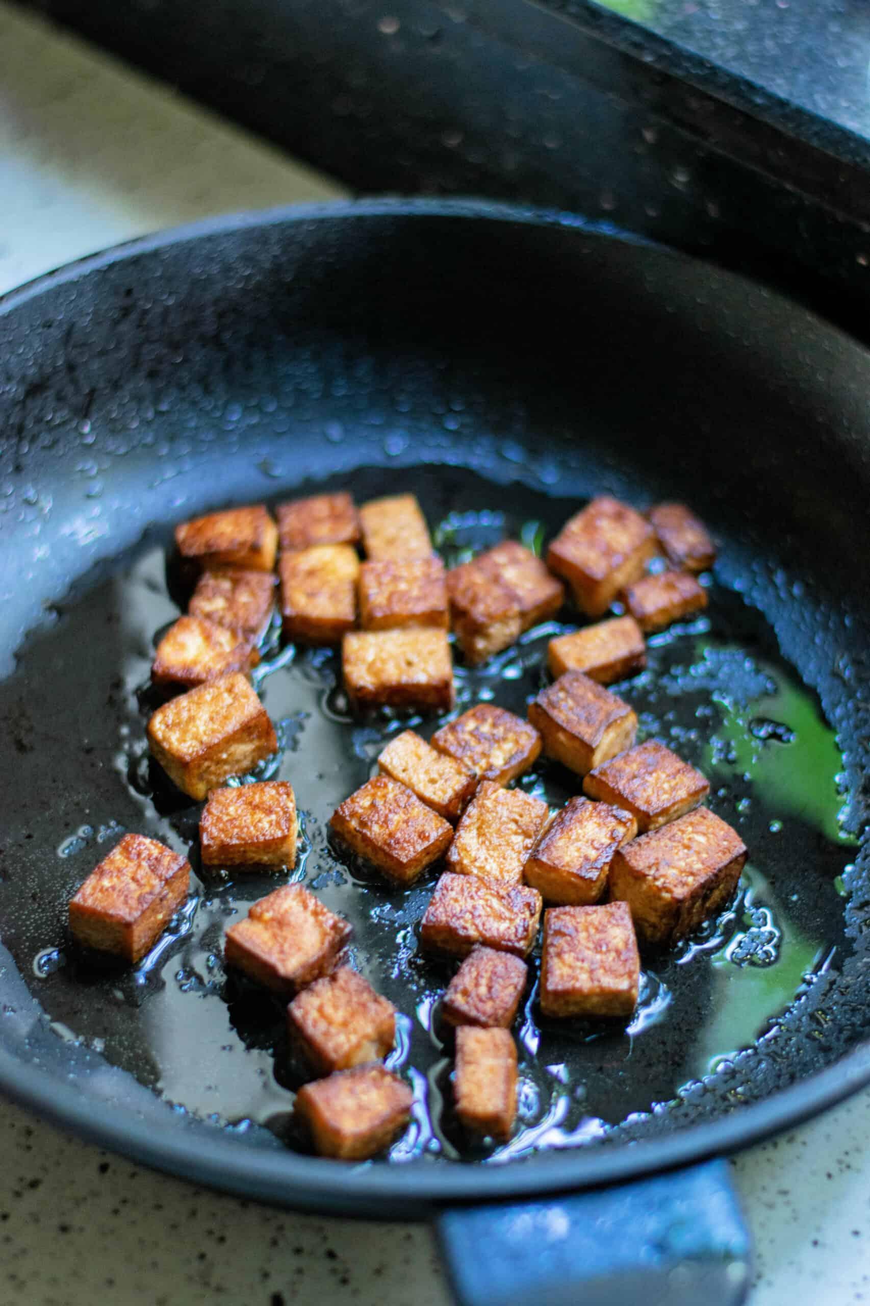 Searing tofu