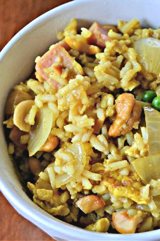 fried rice made using SPAM