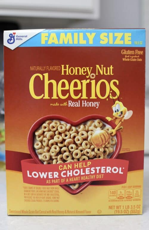 box of Honey Nut Cheerios