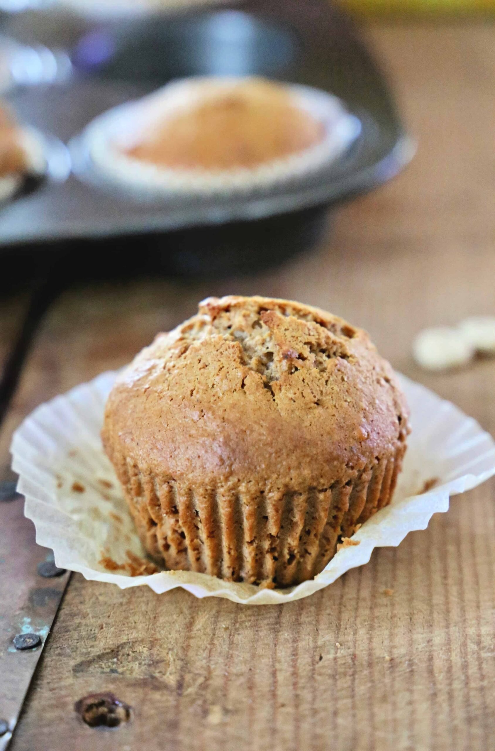 Honey Nut Muffin on cutting board