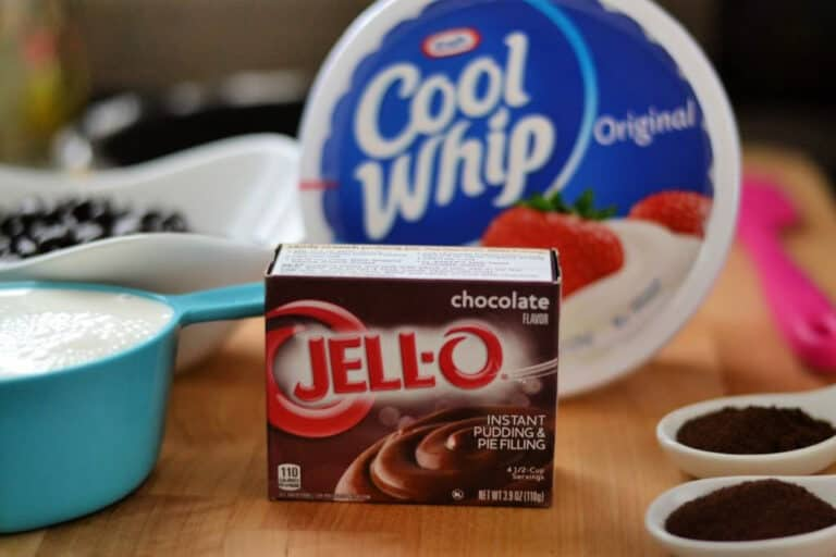 box of instant chocolate pudding and Cool Whip