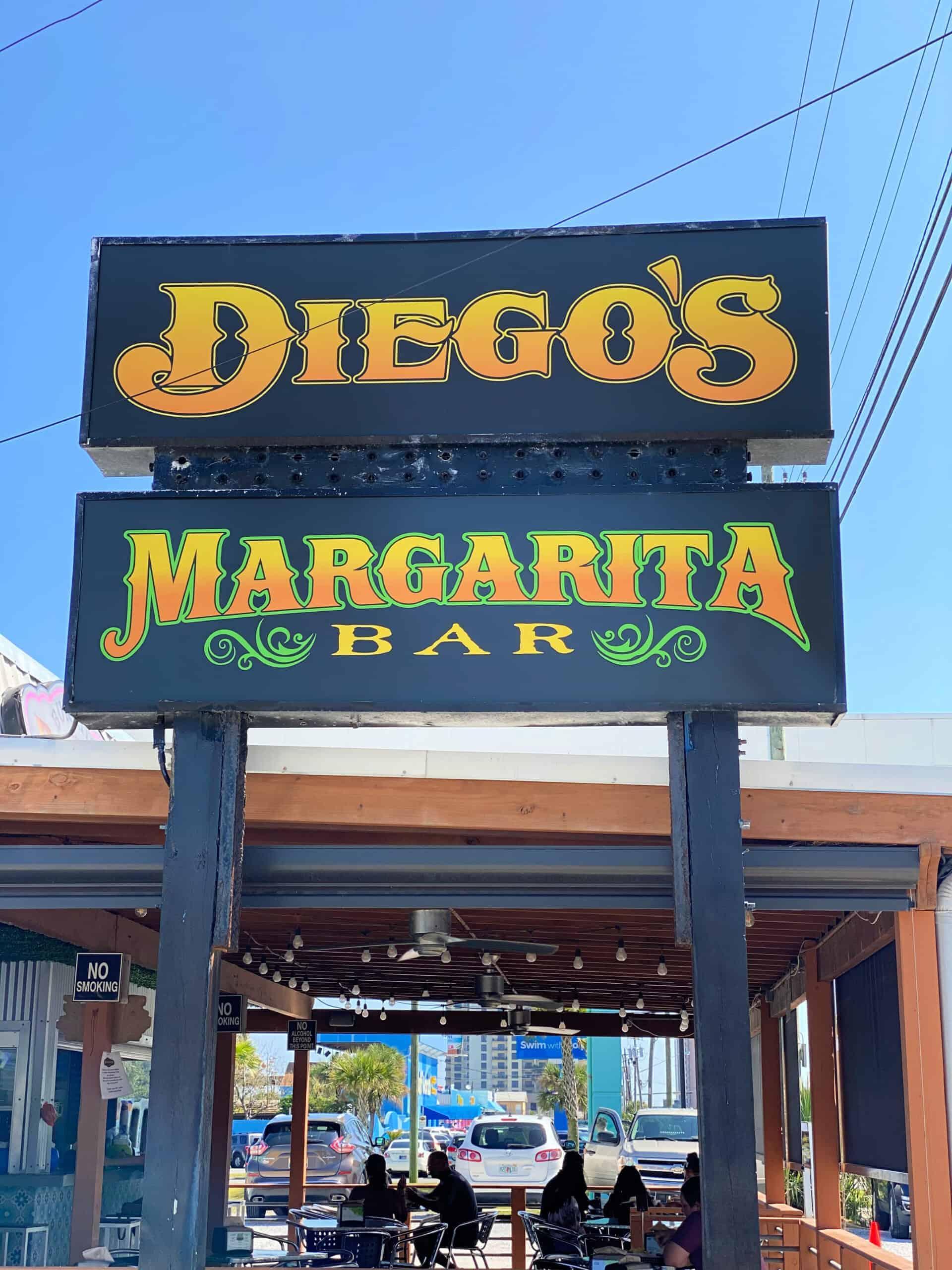Diego's Margarita Bar sign