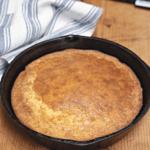 small skillet of cornbread