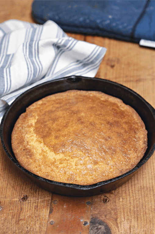 Small Batch Sweet Cornbread In a Skillet