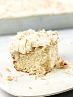 slice of coconut cake
