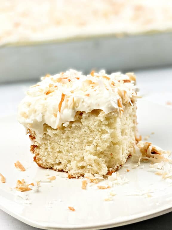 Southern Coconut Cake with Coconut Cream Cheese Frosting