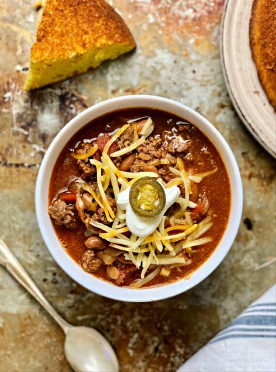 bowl of Wendy's Chili copycat