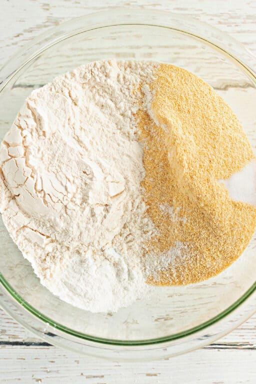 cornmeal and flour