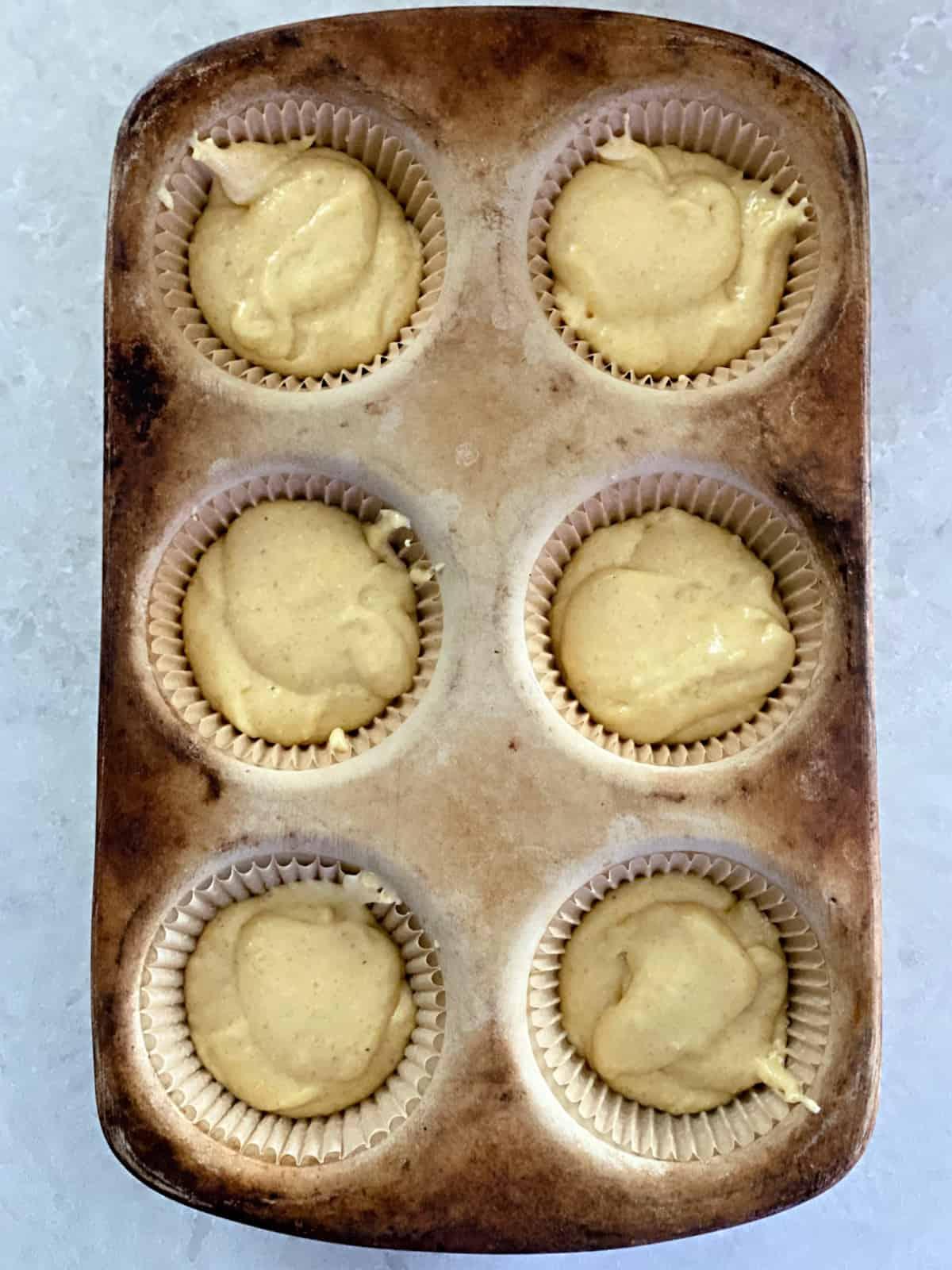 cornbread muffins in a pan