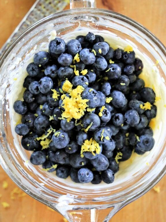 Blueberries and lemon zest