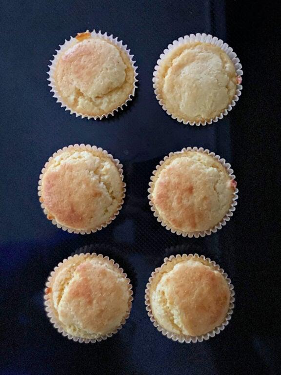 six sweet cornbread muffins