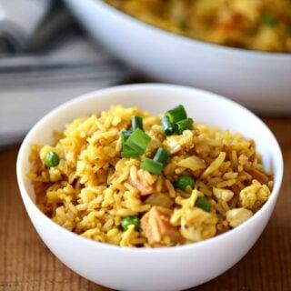 bowl of Hawaiian Fried Rice