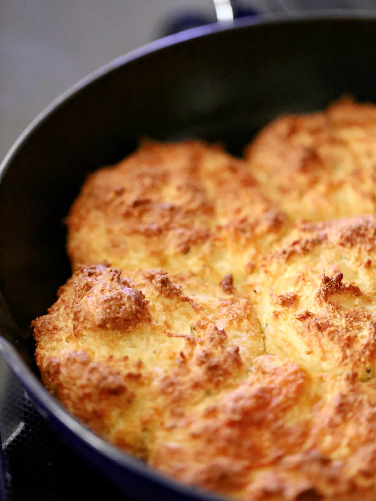 pan of cheddar biscuits