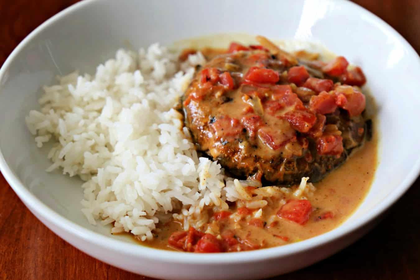 Bowl of Brazilian Portabella and Rice
