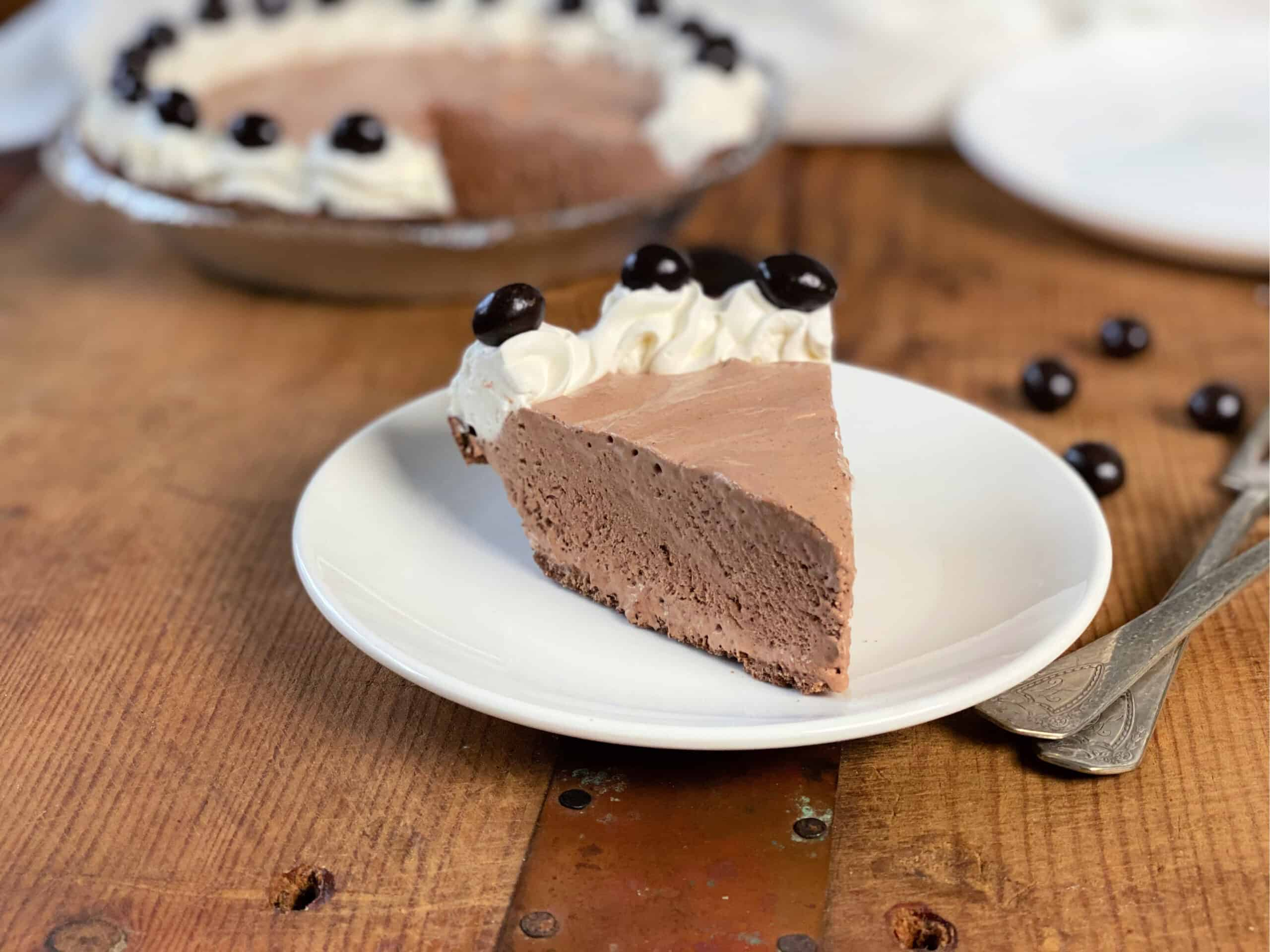 Slice of Mocha Pudding Pie