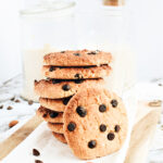 plate of almond flour cookies with chocolate chips